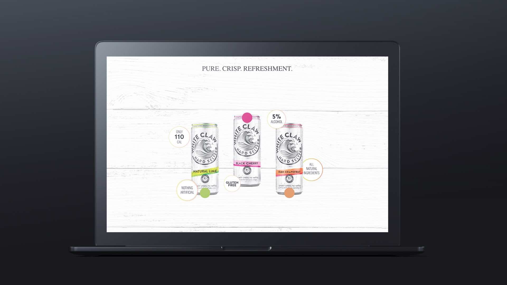 white claw website design and development