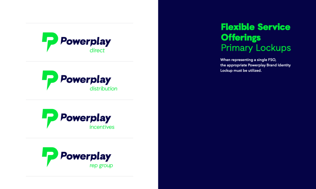 powerplay retail branding lockups