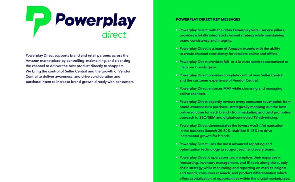 powerplay retail key messages