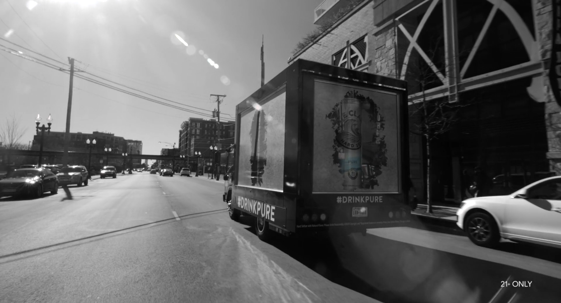 White Claw Hard Seltzer Pure brand launch by Agency Squid creative agency