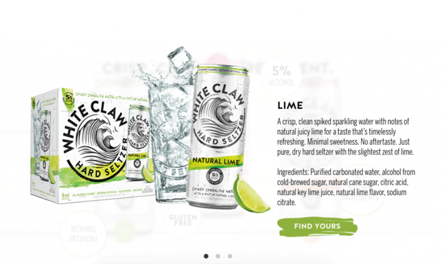 Initial Brand Launch of White Claw Hard Seltzer