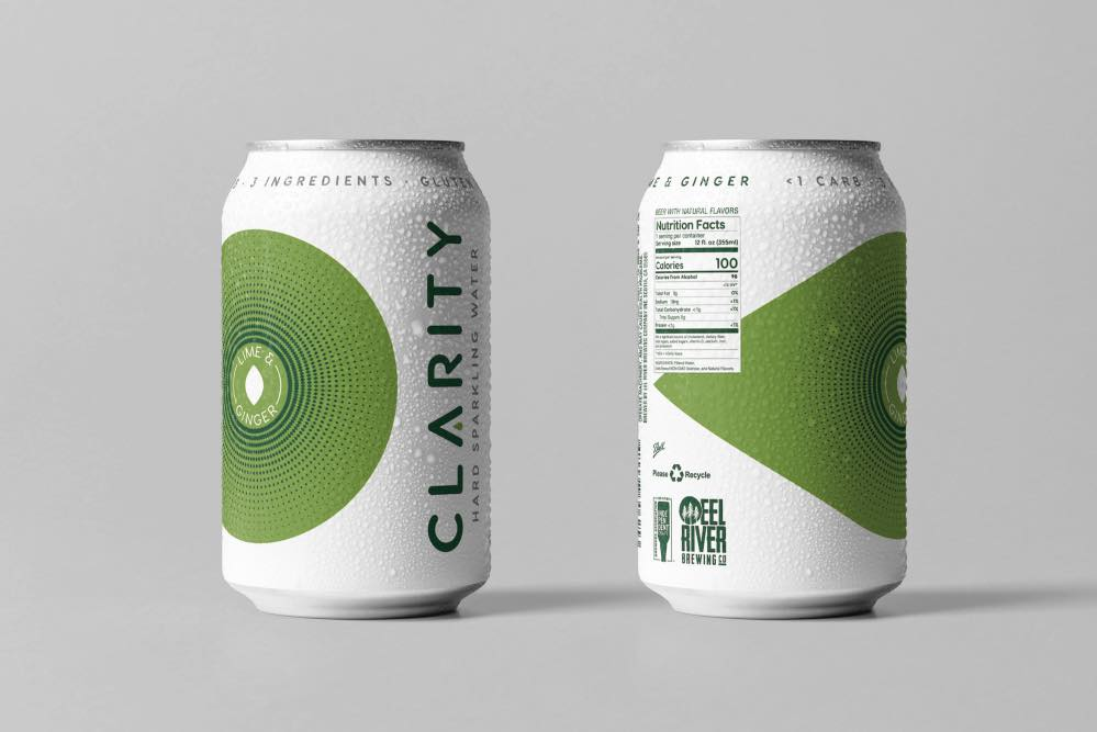 Clarity hard sparkling water lime and ginger can design concepts beer can design hard seltzer can design packaging design