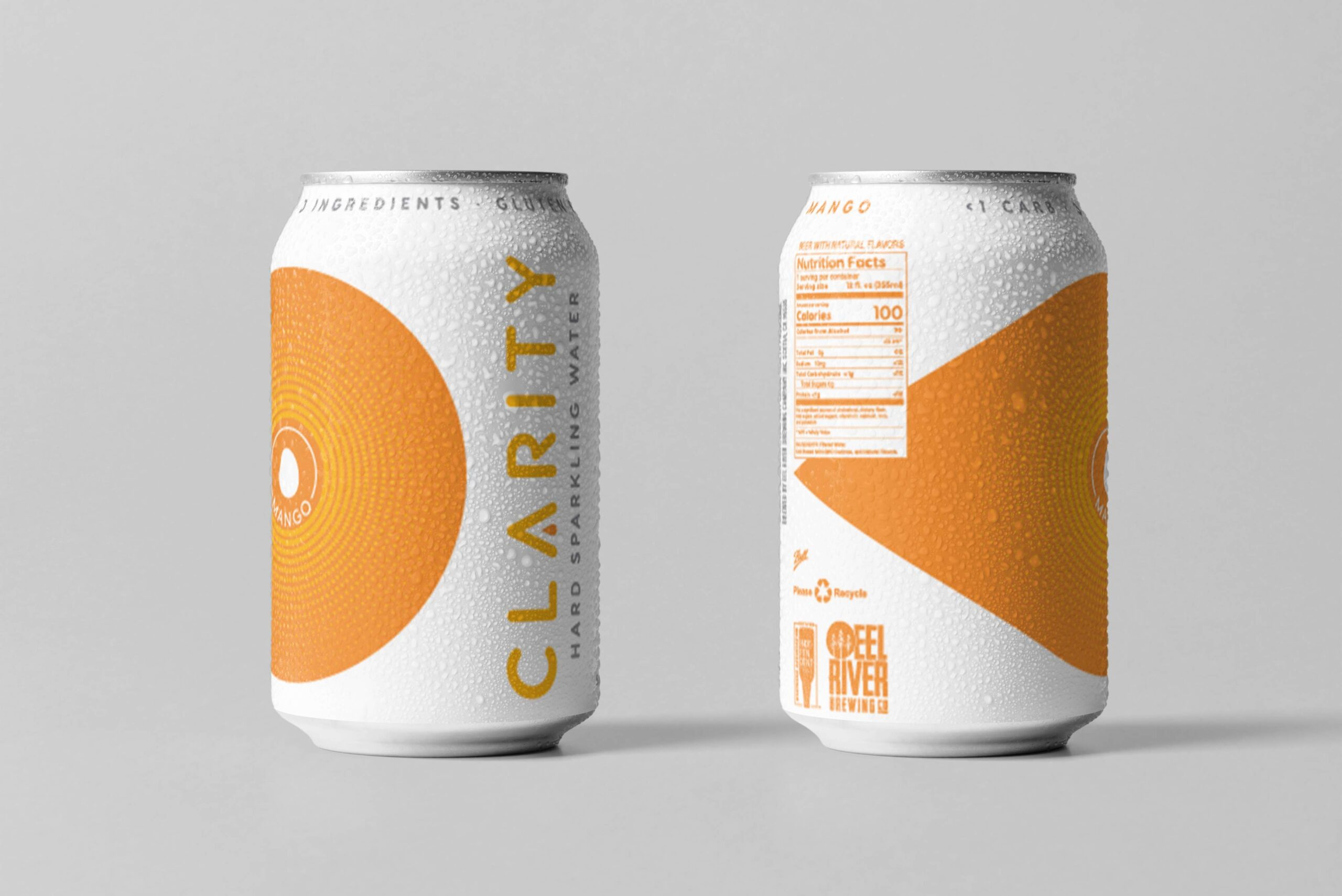 Clarity hard sparkling water mango can design concepts beer can design hard seltzer can design packaging design