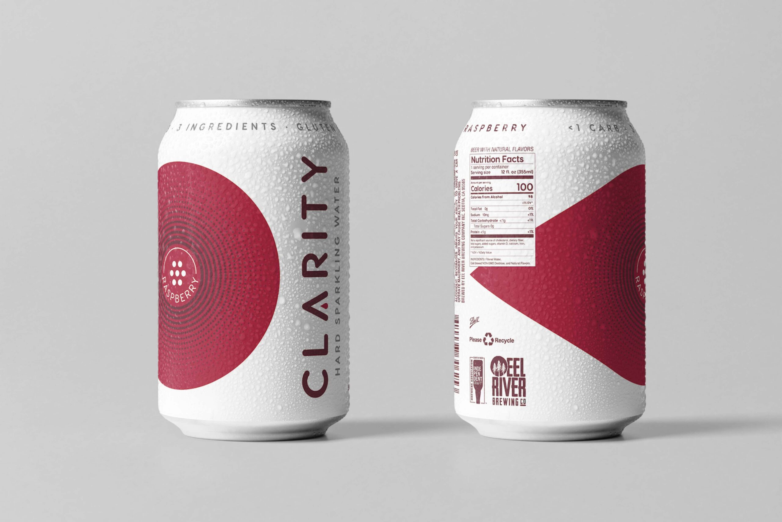 Clarity hard sparkling water raspberry can design concepts beer can design hard seltzer can design packaging design