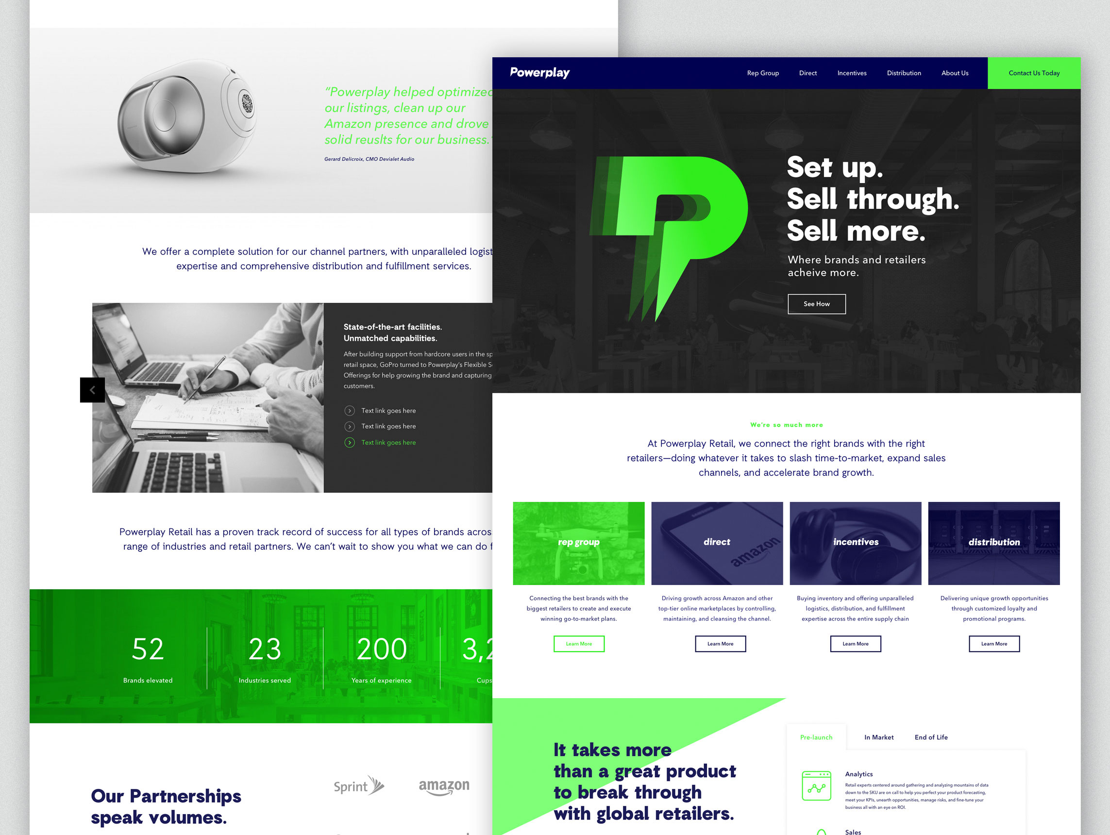 Powerplay Retail new website design and development with corporate identity