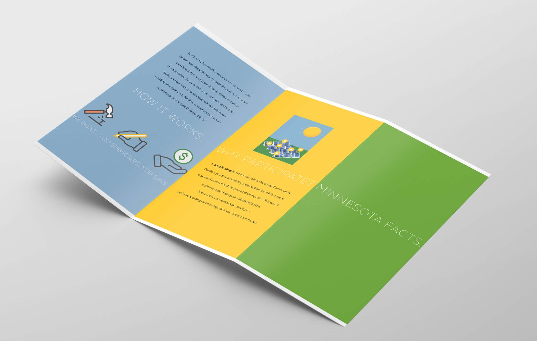 ReneSola MN employ the sun campaign illustration trifold design back