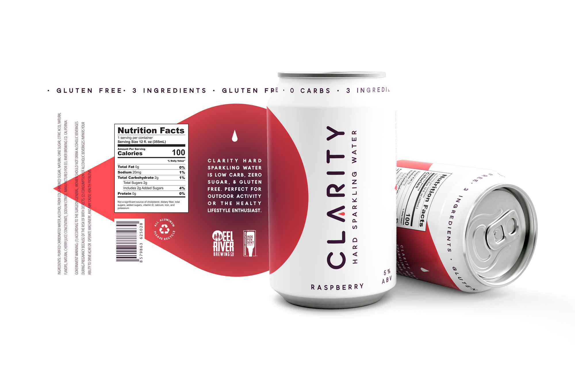 Clarity hard sparkling water can design concepts beer can design hard seltzer can design packaging design