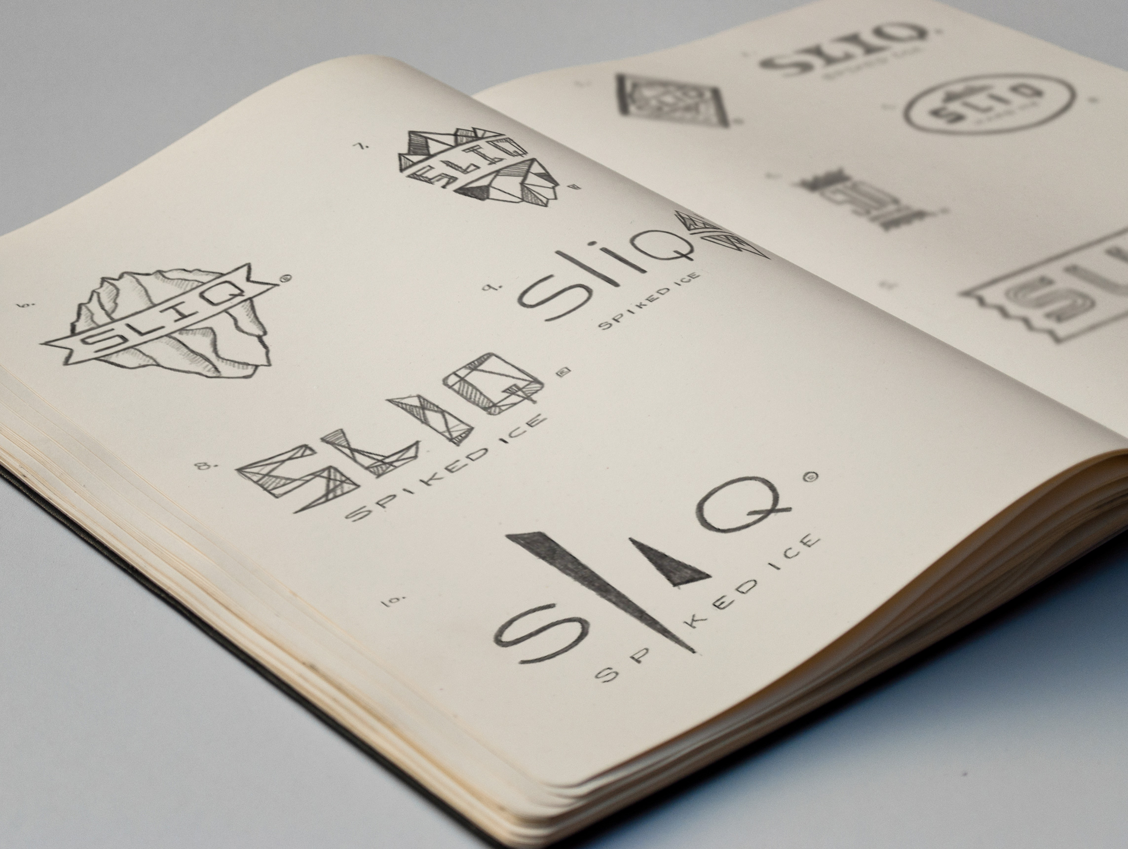 Sliq Spirited Ice brand design and logo design by Agency Squid