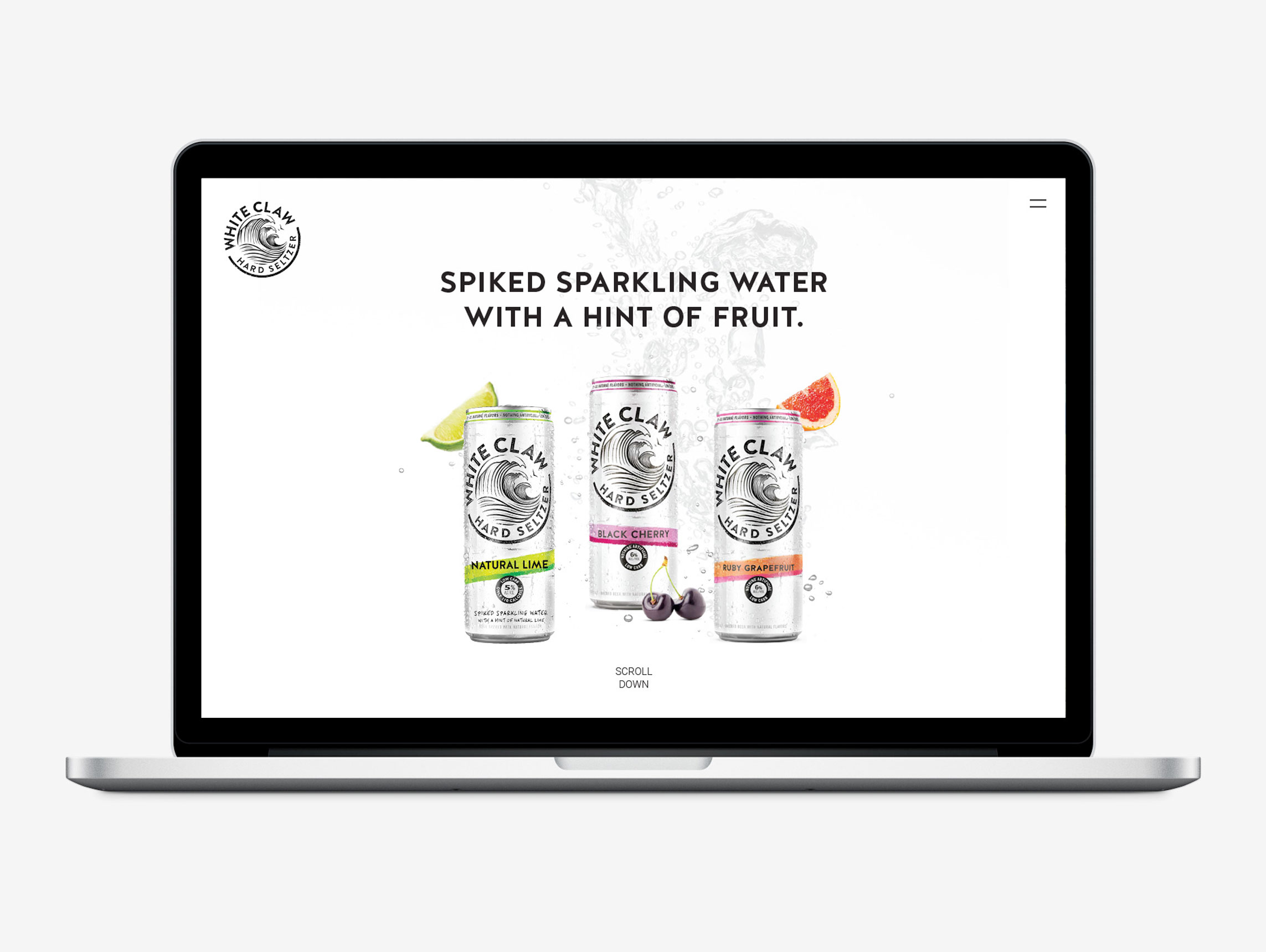 White Claw Hard Seltzer first website design and development home page by Agency Squid creative advertising agency