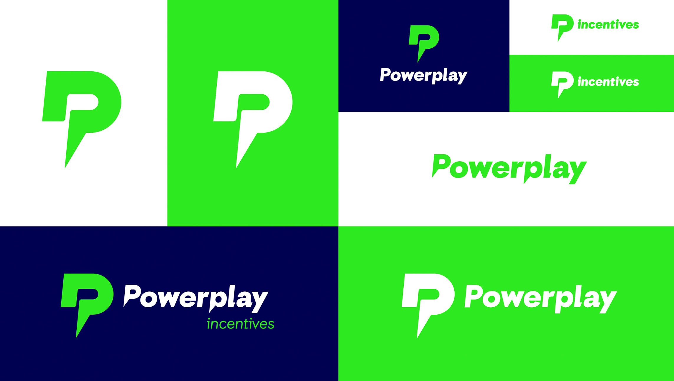 Powerplay Retail logo and corporate mark in full color palette