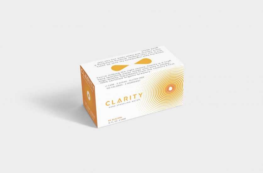 Clarity hard sparkling water can design concepts beer can design hard seltzer mango pack design packaging design